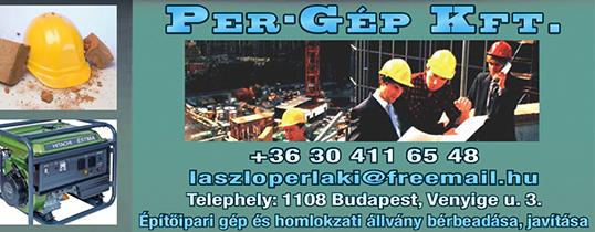 Építőipari gépek és állványzat kölcsönzés - PER-GÉP Kft.