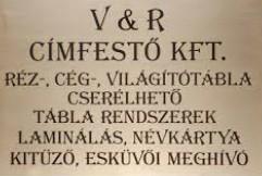 V+R Címfestő Kft.