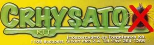 CRHYSATOX Irtószergyártó és Forgalmazó Kft