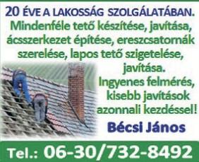 Tetőfedés, Bádogos munkák Budapest Pest megye